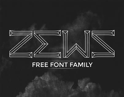 Zews || FREE FONT FAMILY
