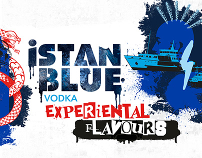 Istanblue Vodka Experiental Flavours Bottle Design