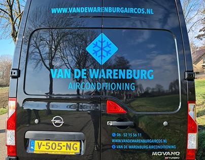 Busbelettering Van De Warenburg Airconditioning