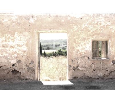 Beyond the wall. Winery at La Portera