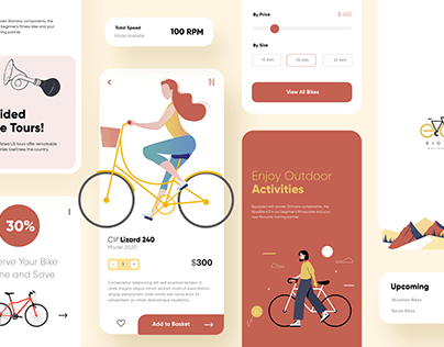 Cycling Mobile App UX UI Design