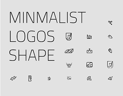 ABSTRACT MINIMALIST LOGOS ICON SHAPE COLLECTION.