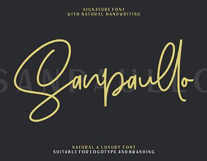 FREE | Sanpaullo Natural Script Font