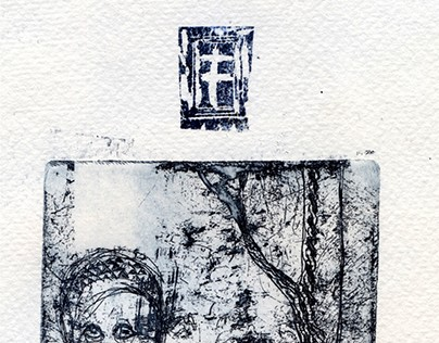 town/etching