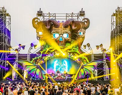 Looptopia 2017 Monster Stage design