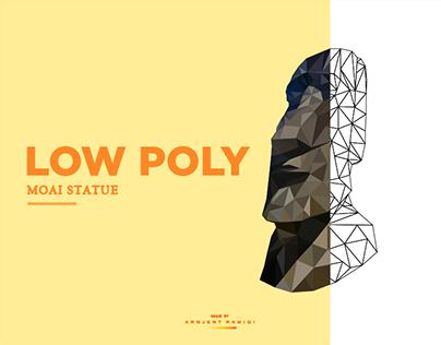 Low Poly - Moai Statue