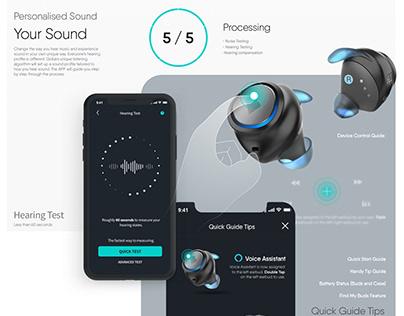 TWS EARBUDS UIUX Design