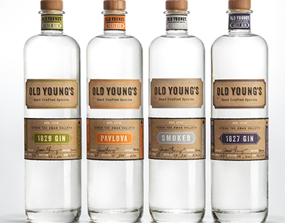 Old Young's Spirits Package Design