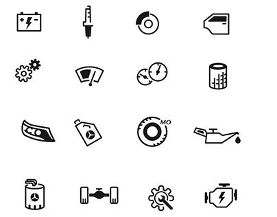 Mercedes Benz China pictogram series