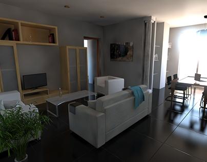 Interior 3D fotorrealista - Rediseño Infoarquitectura