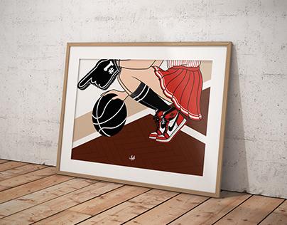 CHEERLEADER   Basketball lova
