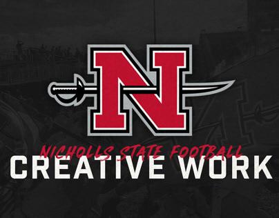 Nicholls State Football Creative Work