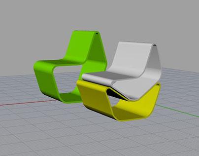 3D Sedia modulare