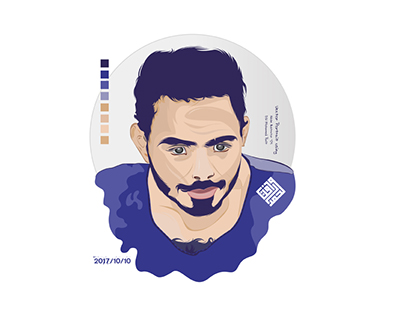 Vector portrait using Adobe Illustrator -04