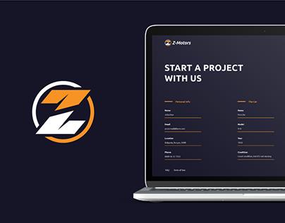 Z-Motors Brand Identity | UI & UX