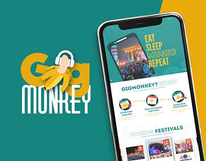 Gigmonkey logo designs