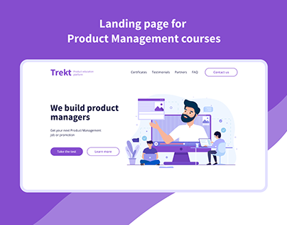 Landing Page for Product Management Courses