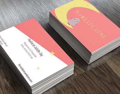 Illustrations, business card : Plumes de lune (blog)