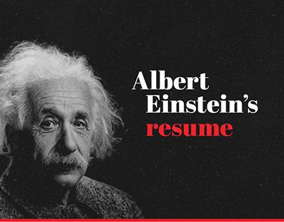 Albert Einstein's Resume Infographic