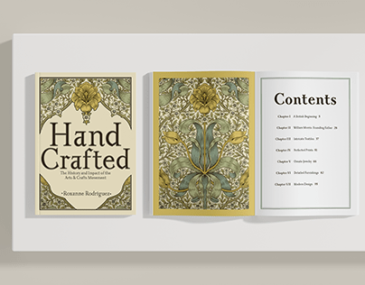 Hand Crafted   Coffee Table Book Design