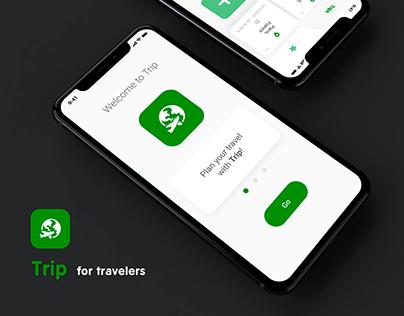 UI/UX Design for Mobile App | Trip for travelers