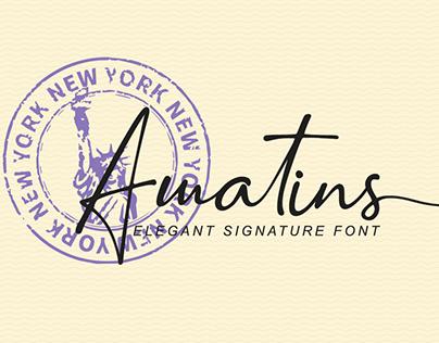 Amatins Script Font