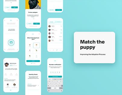 Match The Puppy - App UX UI Design