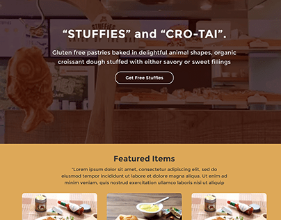 Pastries Web-design