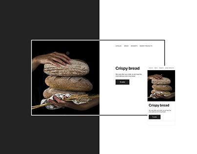 Crispy bread - minimal - web