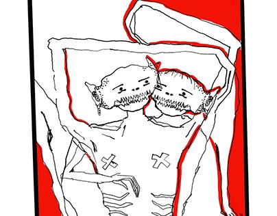 Illustration by @pastafurba Ambiguous Lovers