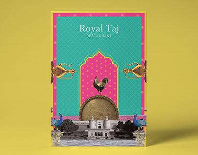 Royal Taj Menu Design