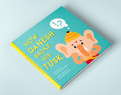 Children's book illustration - Baby Ganesh