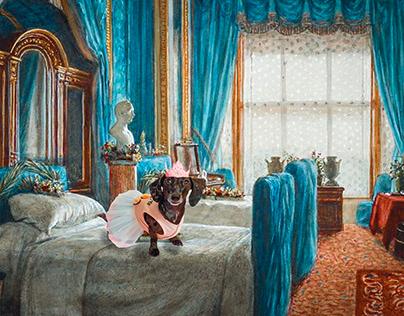 photo manipulation - Dog Birthday