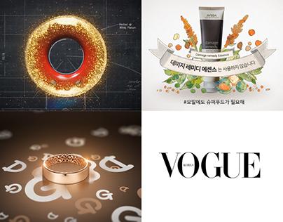 Vogue Digital AD 2018 - Dyson, Aveda, Golden dew