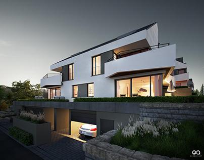 CGI Visuals - Jakob-Kraus Str. Doppelhäuser