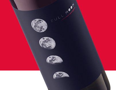 Full Moon Wine Label Design