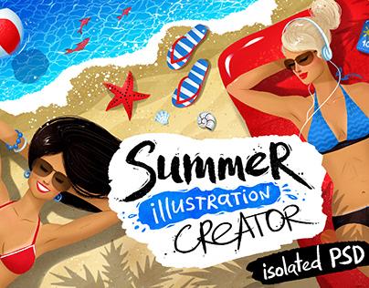 Summer illustration creator