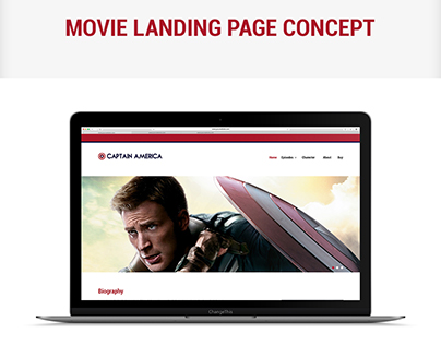 Movie Landing Page UI/UX