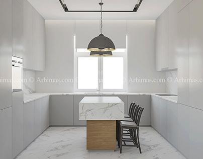 Дизайн интерьера двухэтажный загородный дом Одесса