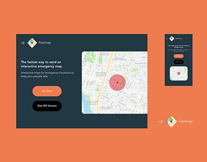 Mockup + Branding // Fastmap Landing Page UI, Logo