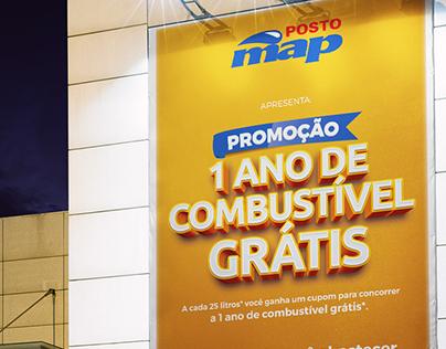 """Campanha - Posto Map """"Combustível Grátis"""""""