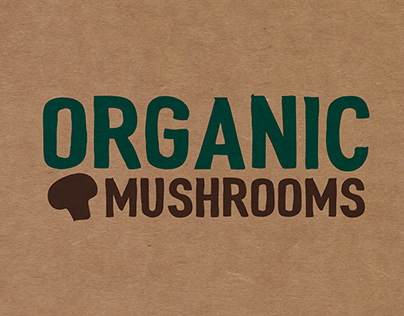 Organic Mushrooms Tray Packaging Design