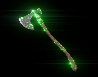 AXE - 3D Model   Low Poly   Game Asset