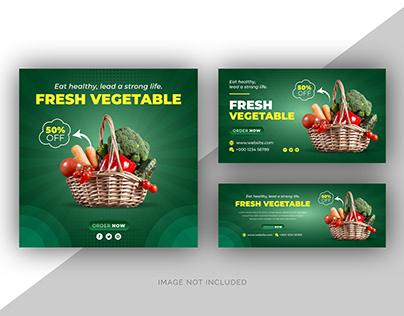 Food menu social media web banner & facebook cover