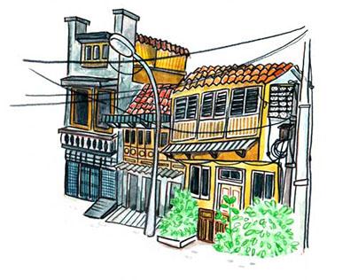 Illustrated Kampong Arab