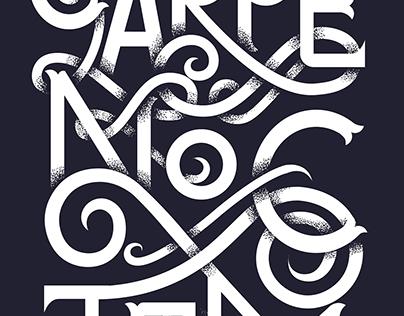 Carpe Noctem - typographic poster