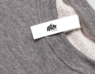 Self commissioned branding for clothing company