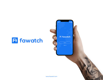 f Latter Logo - Modern f - fawatch Logo Design