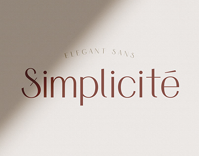 Simplicité - Elegant Font