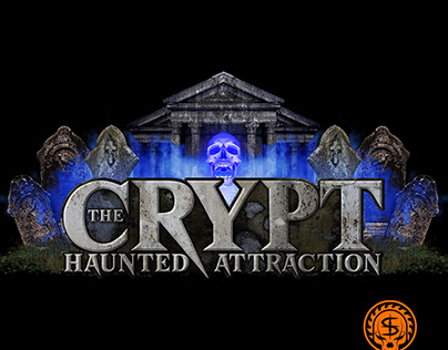 The Crypt Haunted Attraction Logo Design